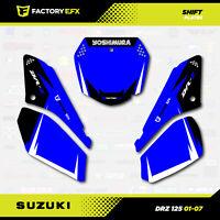 Blue Shift Racing # Number Plate Graphics Kit fits Suzuki DRZ125 01-07 DRZ 125