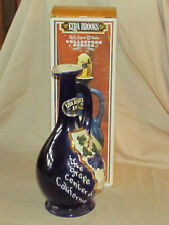 "Vintage 1970 Ezra Brooks Fresno, CA Decanter 10 1/2"" with Cork Top & Box EXC"