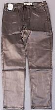 Anthology Women's Sadie Slim Coated Pants KB8 Bronze US:14 NWT