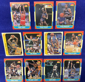 1986-87 Fleer 11 Basketball Cards Lot Bill Walton Adrian Dantley Alex English