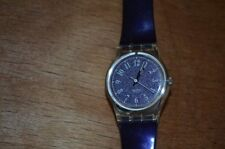 Barbarella Purple Swiss Swatch Watch Casual Water Resistant 1992 LK137 Retro