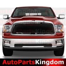 09-12 Dodge RAM 1500 Truck Front Hood Black Mesh Grille+Chrome Shell Replacement
