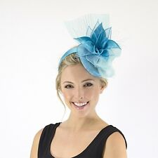 Jendi AQUA Blue Formal Spring Racing Oaks Day Fascinator Headband Gr8 4 Races