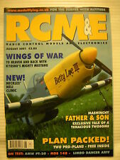 RCM&E Radio Control Models & Electronics - August 2001 Complete with Unused Plan