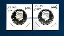 2012 S Clad and Silver Proof Kennedy Half Dollar  Set - 2 Coins