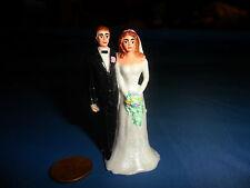 Miniature Plastic Bride and Groom