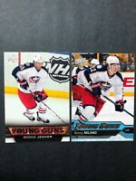 2 Card Young Guns Lot Columbus Bluejackets Boone Jenner & Sonny Milano UD YG RC