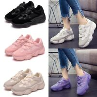 Summer Womens Lace Up Sneakers Sport Fitness Trainers Jogging Running Shoes Size