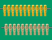 "11 Yellow/11 Tan Robotic Foosball Men-5/8"" Rod - 22 Robotic Table Soccer Men"