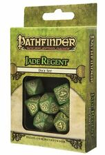 Q-workshop 7 Dice Set of Green & Yellow Pathfinder RPG Jade Regent SPAT44