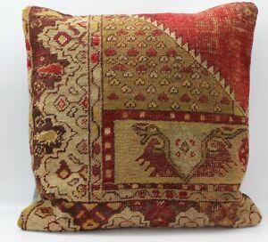 Antique Turkish Rug Pillow Cover 20'' X 20''(50X50cm)