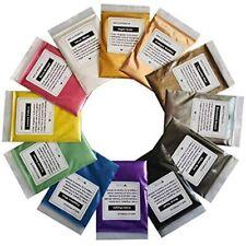 Vitory Pure Mica Powder (12 Colors 10g/0.35oz Each), Brilliant Colorant Pigment