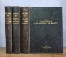 1914-1918 COMBATS DIPLOMATIE HISTOIRE ILLUSTREE DE LA GUERRE DU DROIT (HINZELIN)
