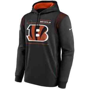 Brand New 2021 Cincinnati Bengals Nike Sideline Logo Performance Pullover Hoodie