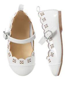 NWT Gymboree EGG HUNT White Flat Dress Shoes Girls Holiday Sz. 6,7,10