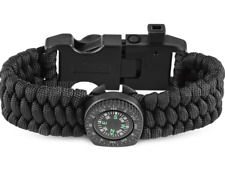 Survival Band - Outdoor Multifunctional Paracord Bracelet with Compass. FREE P&P