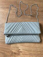 Pale Grey Quilted Shoulder Bag