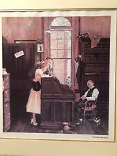 Norman Rockwell 1978 Signed Limited Edition Litho Marriage License Free Ship