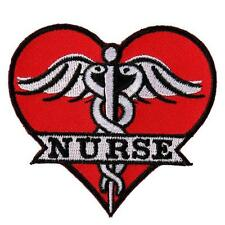 MEDIC EMS RN Nurse Heart EMBROIDERED 3.0 INCH IRON ON PATCH