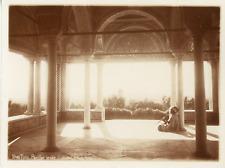 Lehnert & landrock, Tunisie, Tunis, pavillon arabe, joueur de flûte  Vintage sil