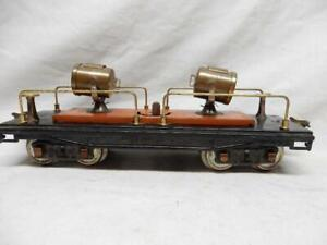 LIONEL LINES NO. 220 STANDARD GAUGE OPERATING TWIN SEARCHLIGHT CAR