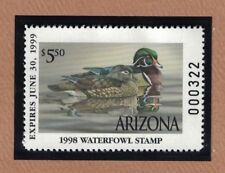 AZ12 - Arizona State Duck Stamp. Single. MNH. OG.
