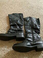Womens Tall Black Fashion Boots. No flaws. Barely Worn. Size 9