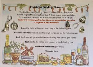 Christmas Pudding Charms