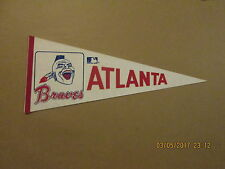 MLB Atlanta Braves Vintage 1970's Red White & Blue Logo Baseball Pennant