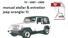 manuel atelier entretien réparation technique maintenance Jeep Wrangler YJ - Fr