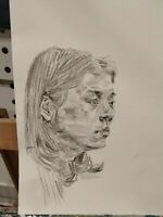 Custom Pencil Portrait, Personalized Drawing from Photographs