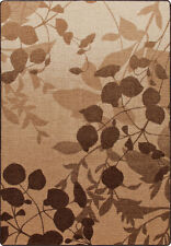 """2x8 Milliken Silhouette Brown Casual Leaves Area Rug - Approx 2'1""""x7'8"""""""