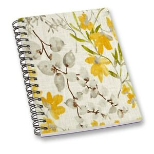 Floral Print Notebook Off White A5 Sheet Smooth Paper Personal/Office Stationary