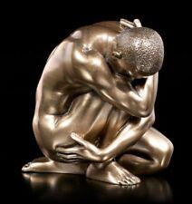 masculine statue Nu - Paillettes sur Fil de fer sol avec accélère jambe -