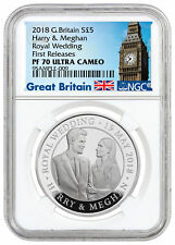 2018 Great Britain - Royal Wedding Silver Proof £5 NGC PF70 UC FR SKU53795