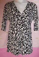 $68 AUGUST SILK EMBROIDERED CAMI INSERT BLACK WHITE FLORAL PRINT LARGE DRESS