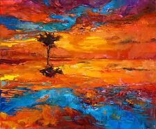 A0 Size Canvas Print sunrise  TAS VIC  SA NSW Landscape Outback Sunset  Painting
