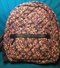 New Claire's Soft Quilted Navy Blue Floral Backpack Bag Tote New With Tags