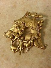Vintage AJC Circus Big Top Brooch PIN American Jewelry Chain ringmaster carnival