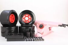 90mm 78a Black Longboard Wheels and Pink Reverse Kingpin Truck Combo Set