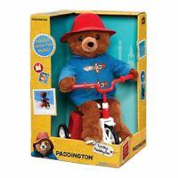 "Paddington Bear Bike Cycling Moving Soft Plush Toy - 13"" Boxed Rainbow"