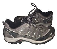 Salomon Men's Contagrip Hiking Trail Shoes Men's Size 10 Gray/Black