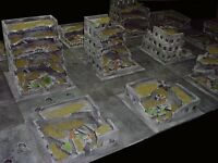 War game terrain suitable for use with 40k, 6x12 inch urban street sections