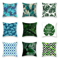 Pillow Case Garden Covers Decoration Home Leaf Outdoor Floral Waterproof Cushion