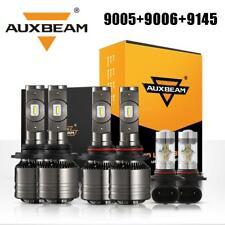 6PCS AUXBEAM 9005 9006 LED Headlight 9145 Fog Kit for Chevy Silverado 1500 03-06