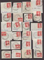 South Australia page of postmarks on piece on 4 cent QE11 issue