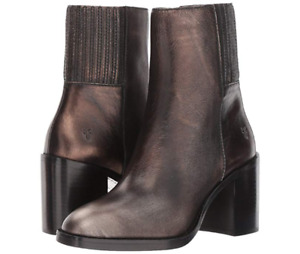 New in Box Womens Frye Pia Chelsea Short Boot Bronze Retail $278 Size 9.5 M