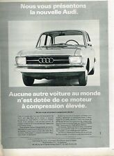 E- Publicité Advertising 1965 Nouvelle audi moteur compression élévée