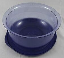 Tupperware C 23 mittlere Tafelperle Schüssel 2,1 l Blau Transparent / Blau Neu