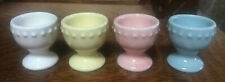 Pottery Barn Easter EMMA EGG CUP S/4, White, Yellow, Pink, Blue - NIB